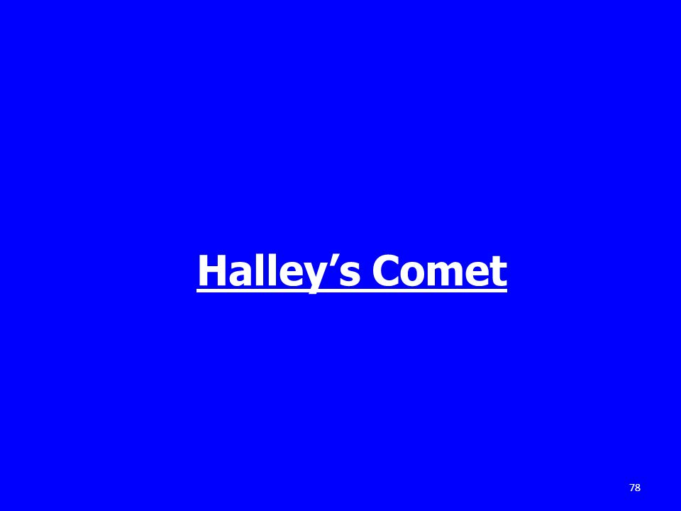 78 Halley's Comet