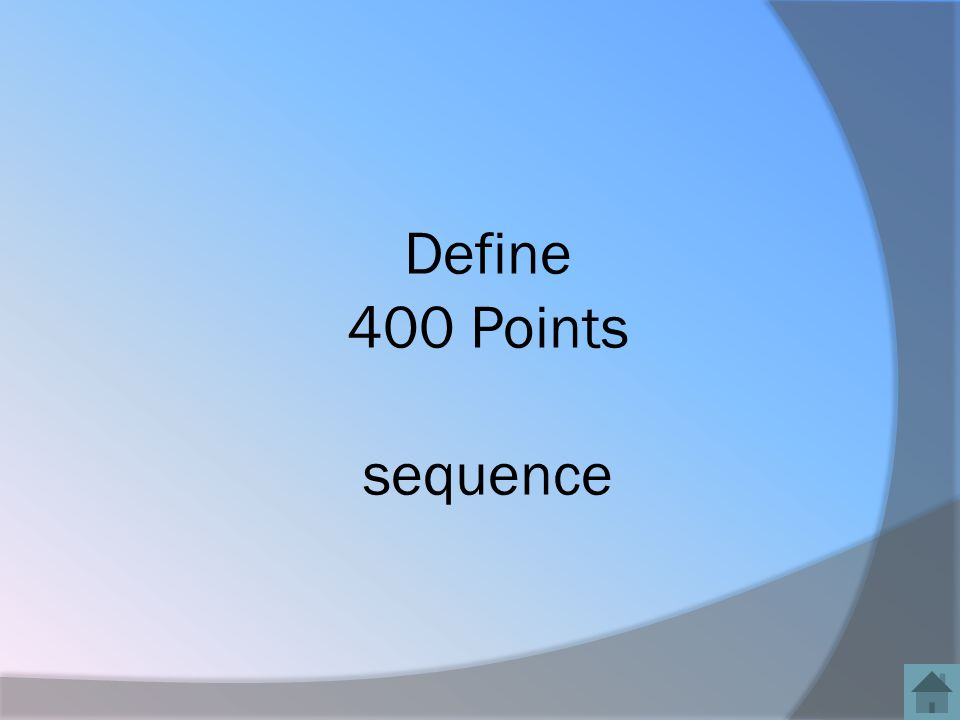 Define 400 Points sequence