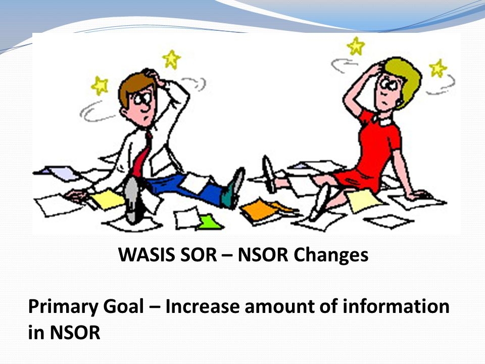 WASIS SOR – NSOR Changes Primary Goal – Increase amount of information in NSOR