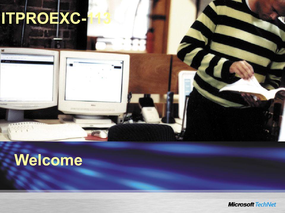 Welcome ITPROEXC-113