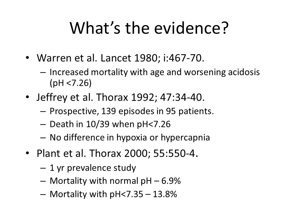 What's the evidence. Warren et al. Lancet 1980; i:467-70.