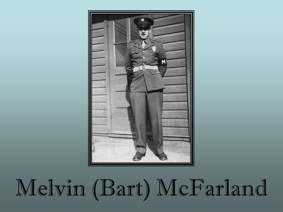 Melvin (Bart) McFarland