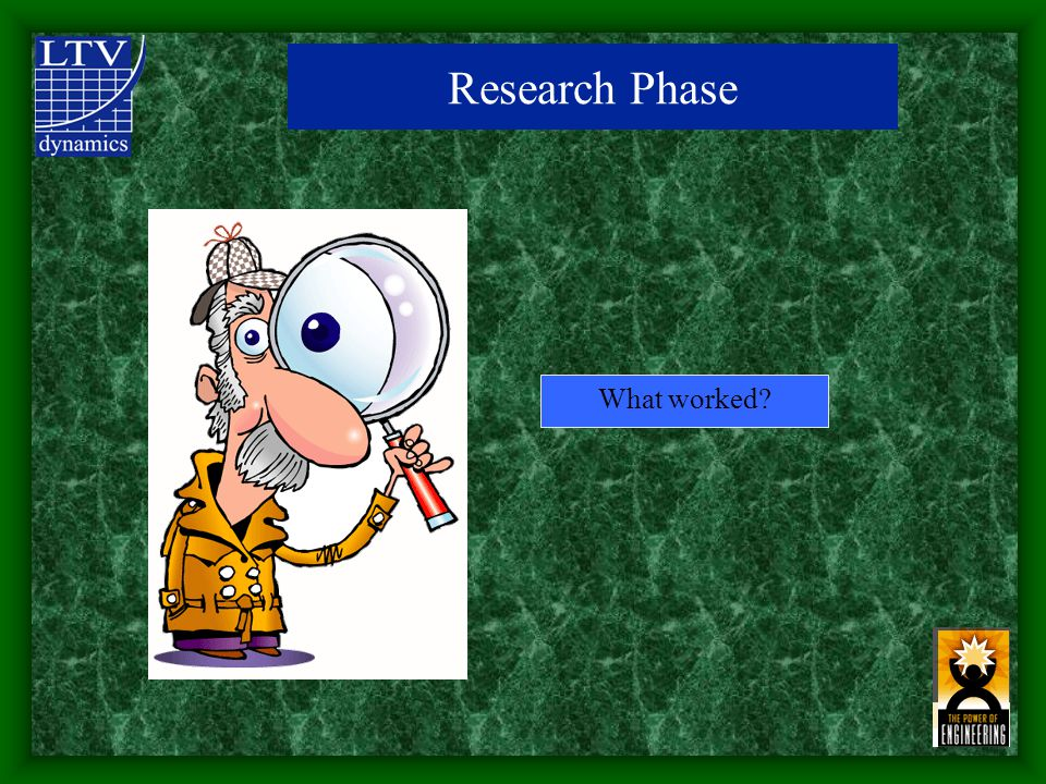 What worked Research Phase