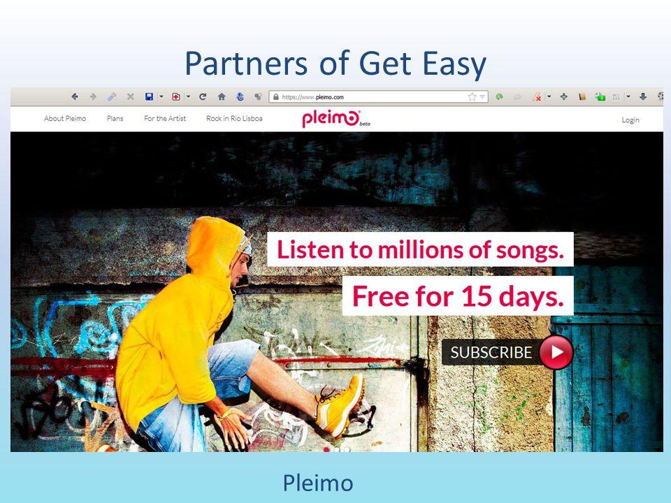 Partners of Get Easy Pleimo