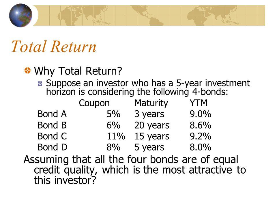Total Return Why Total Return.