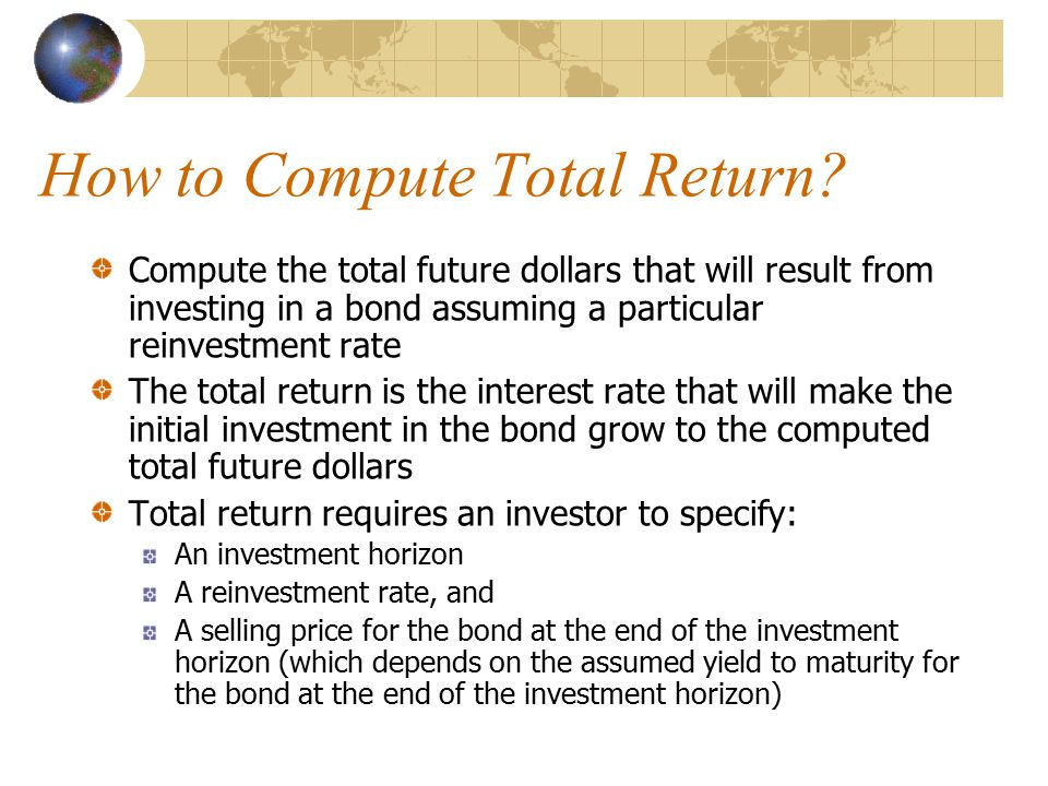 How to Compute Total Return.