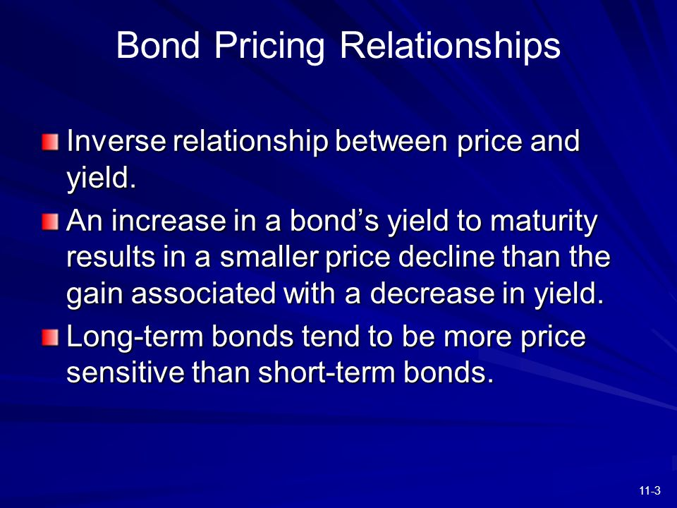 11-3 Inverse relationship between price and yield.