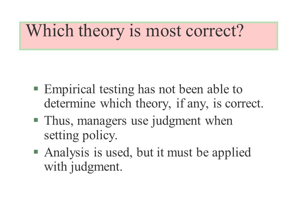 Which theory is most correct.