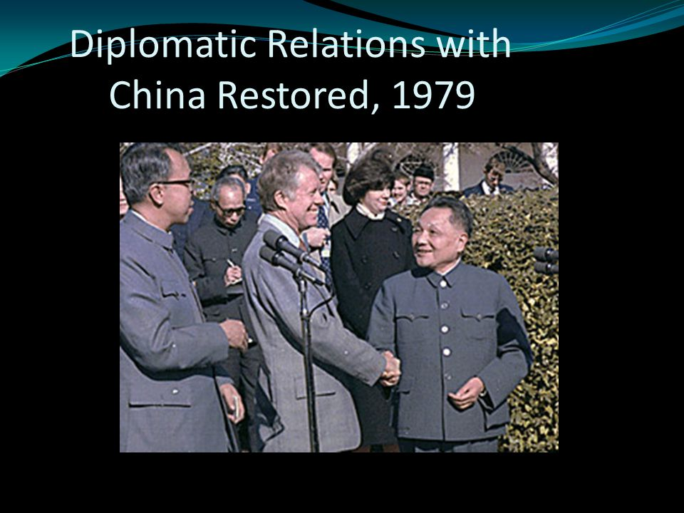 Diplomatic Relations with China Restored, 1979