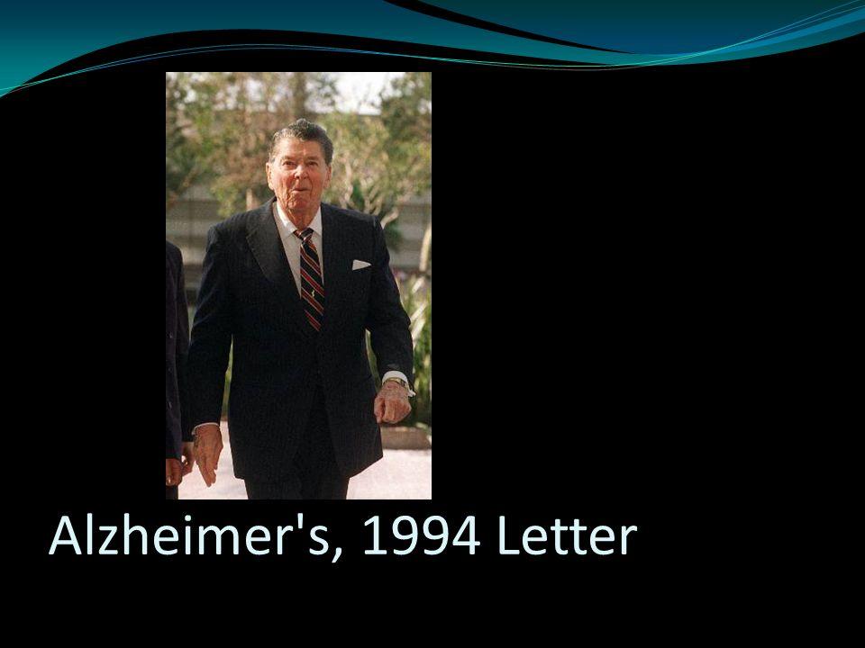 Alzheimer s, 1994 Letter