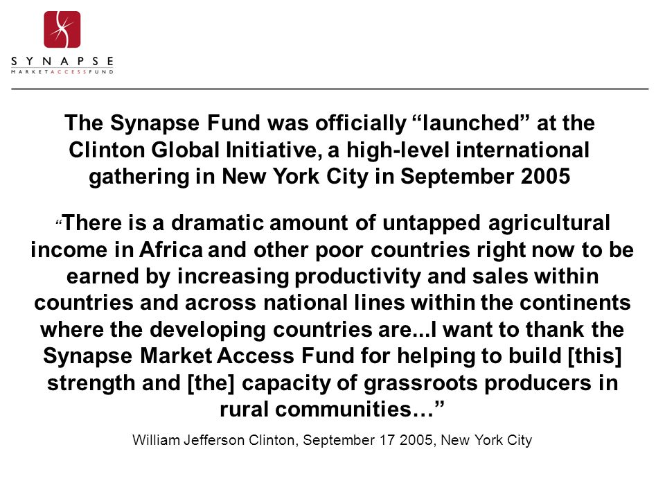 """"""" There is a dramatic amount of untapped agricultural income in Africa and other poor countries right now to be earned by increasing productivity and"""