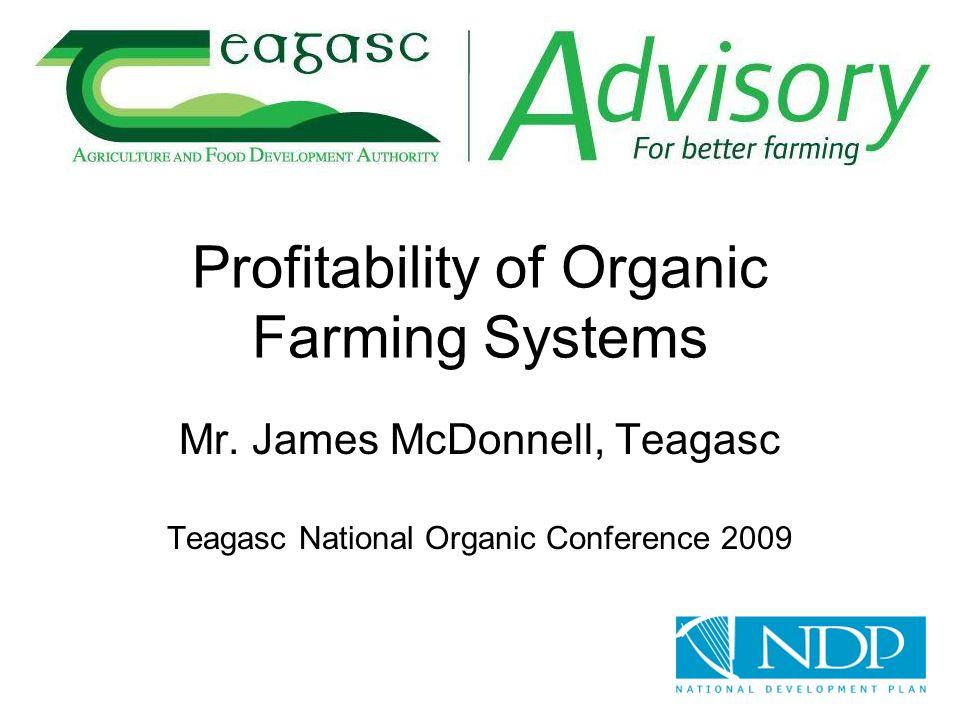 Profitability of Organic Farming Systems Mr.