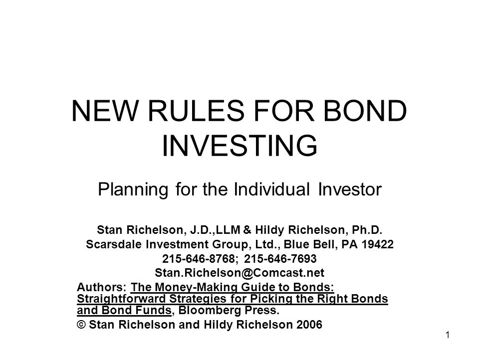 22 Using Bonds in a Rising Interest Rate Market Reinvest cash on hand Reinvest maturing bond capital Sell the short-end of the laddered portfolio and reinvest the capital in longer dated bonds.