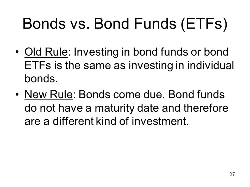 27 Bonds vs.