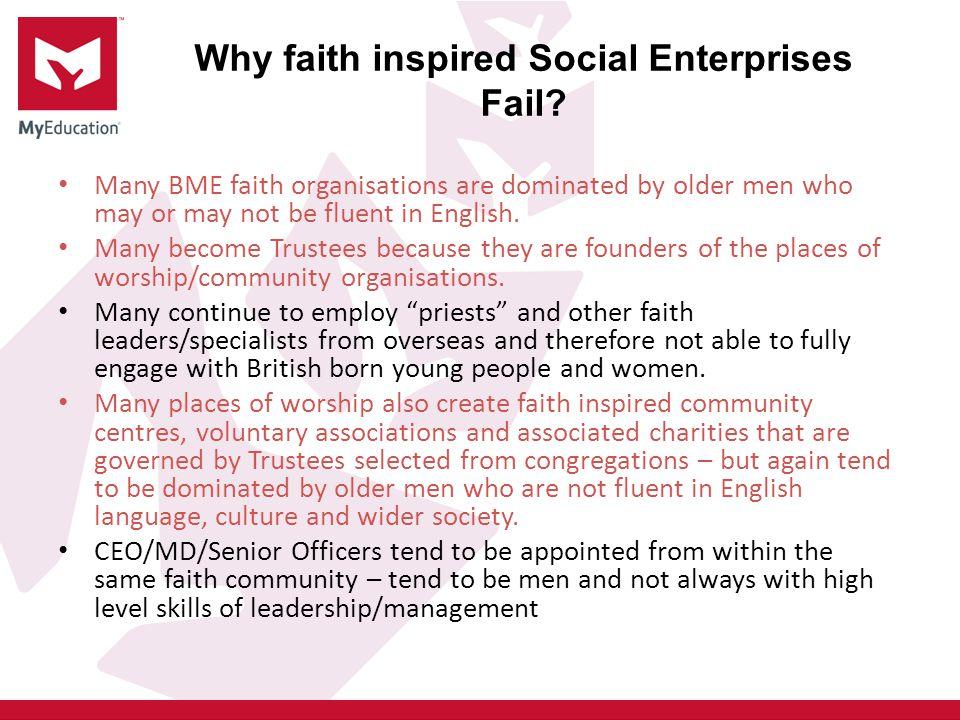 Why faith inspired Social Enterprises Fail.