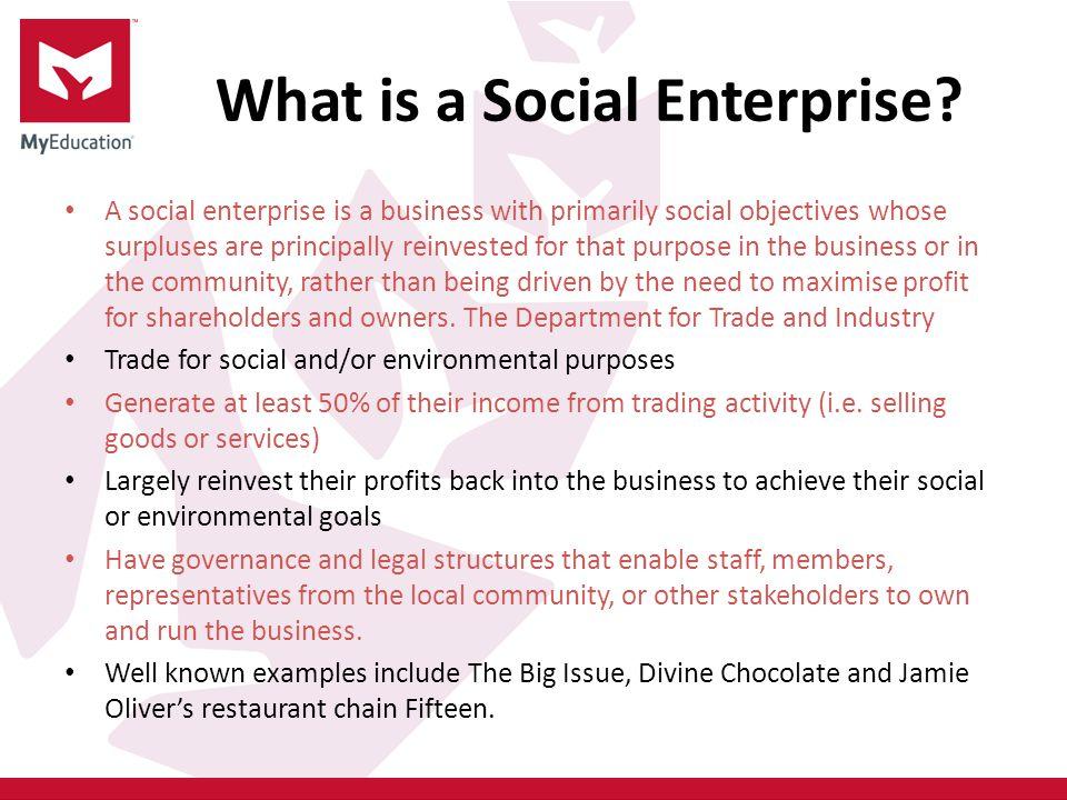 What is a Social Enterprise.