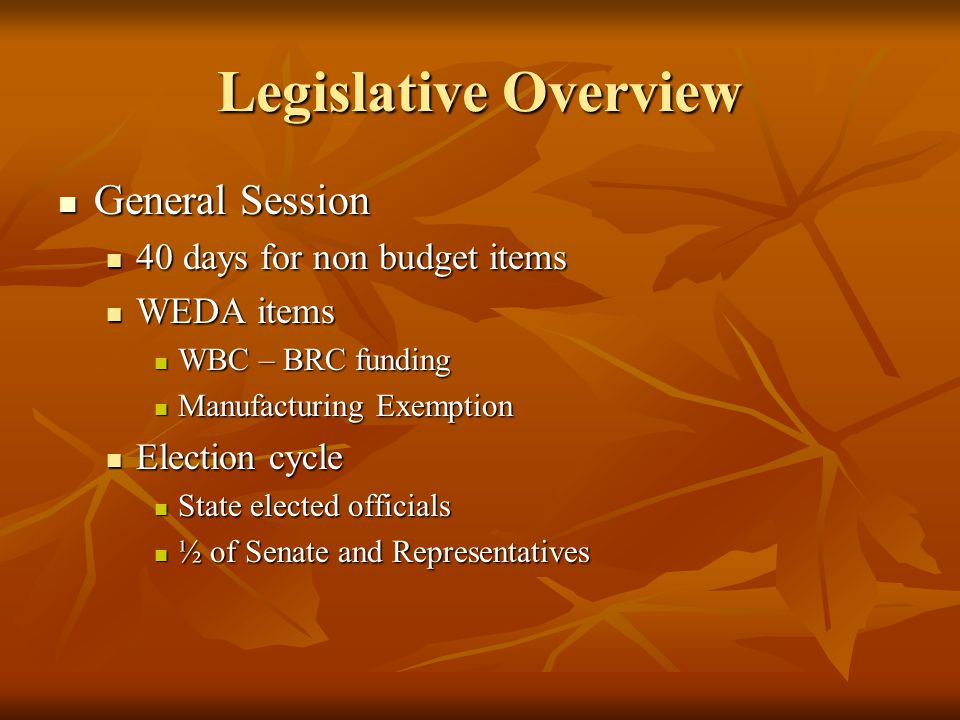 Joint Revenue Existing Revenue Committee will draft bill for Manufacturing Exemption.