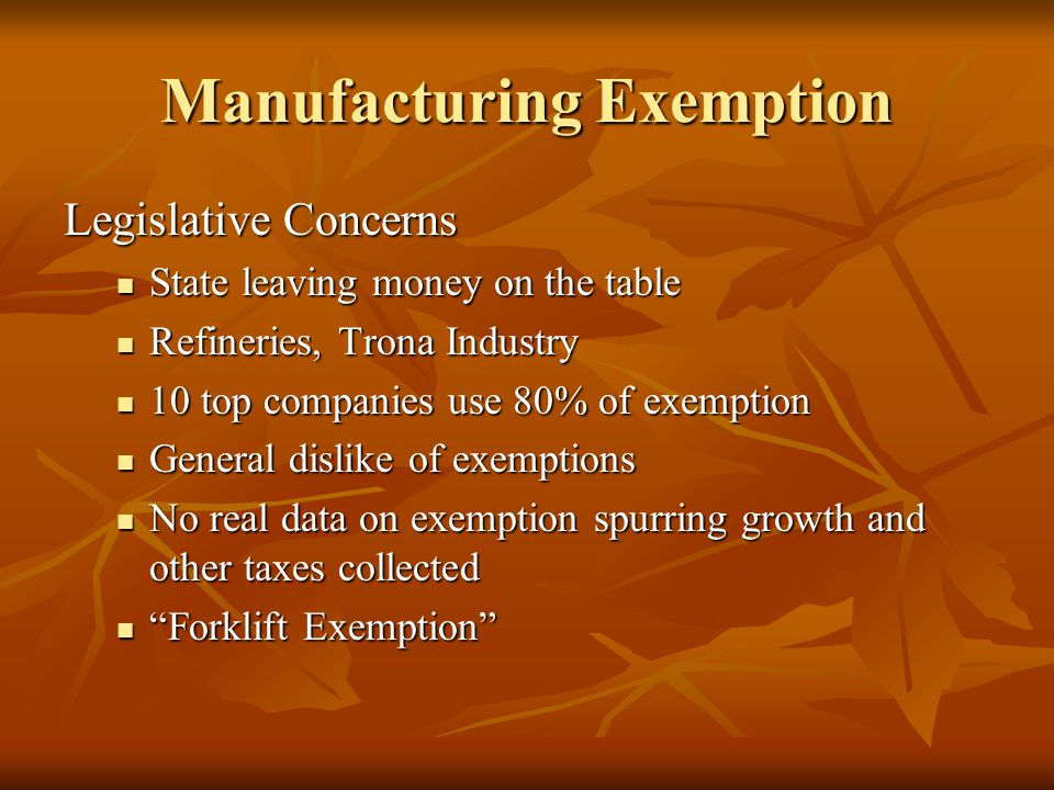 Manufacturing Exemption National Manufacturing Employment Jan.