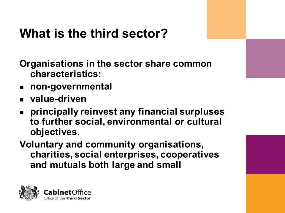 What is the third sector.