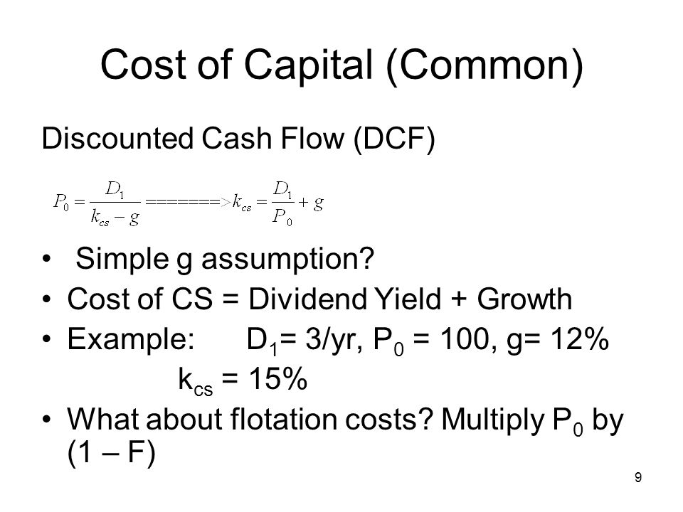 70 Dividend Policy Residual Dividend Model –Dividend policy set to pay out cash that is not need for investment or for reserve cash reasons