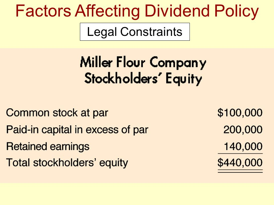 Factors Affecting Dividend Policy Legal Constraints