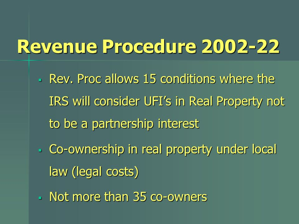Revenue Procedure 2002-22  Rev.