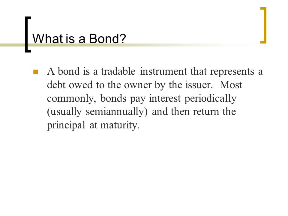The Current Yield The current yield on a bond is simply the annual interest payment divided by its current price.