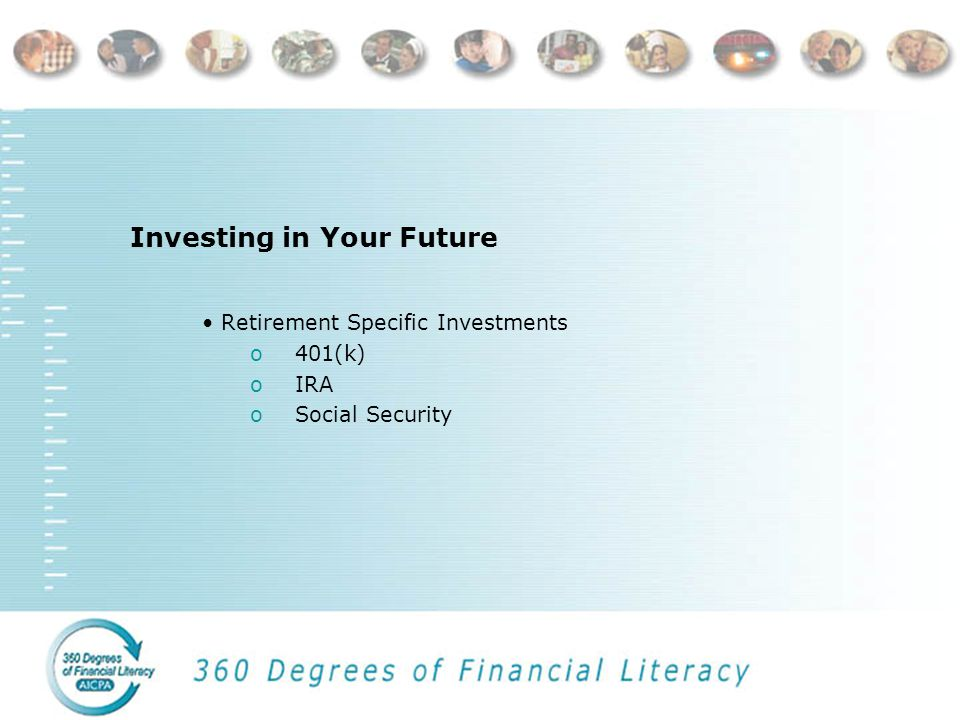 Investing in Your Future Long-Term Investments o Mutual Funds o Stock o Bonds