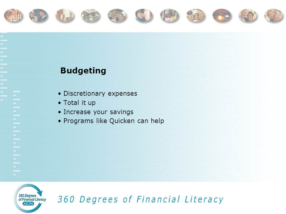 Budgeting Gross monthly income Net income Fixed expenses Flexible expenses