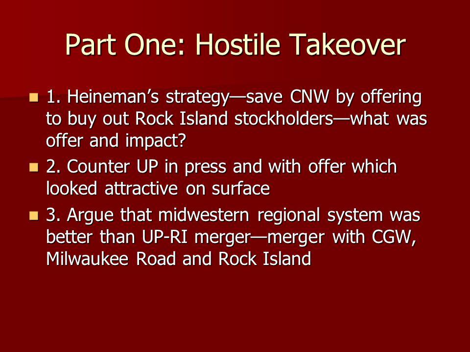 Part One: Hostile Takeover 1.