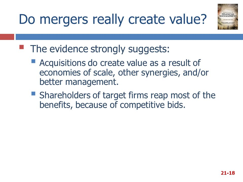 Do mergers really create value.