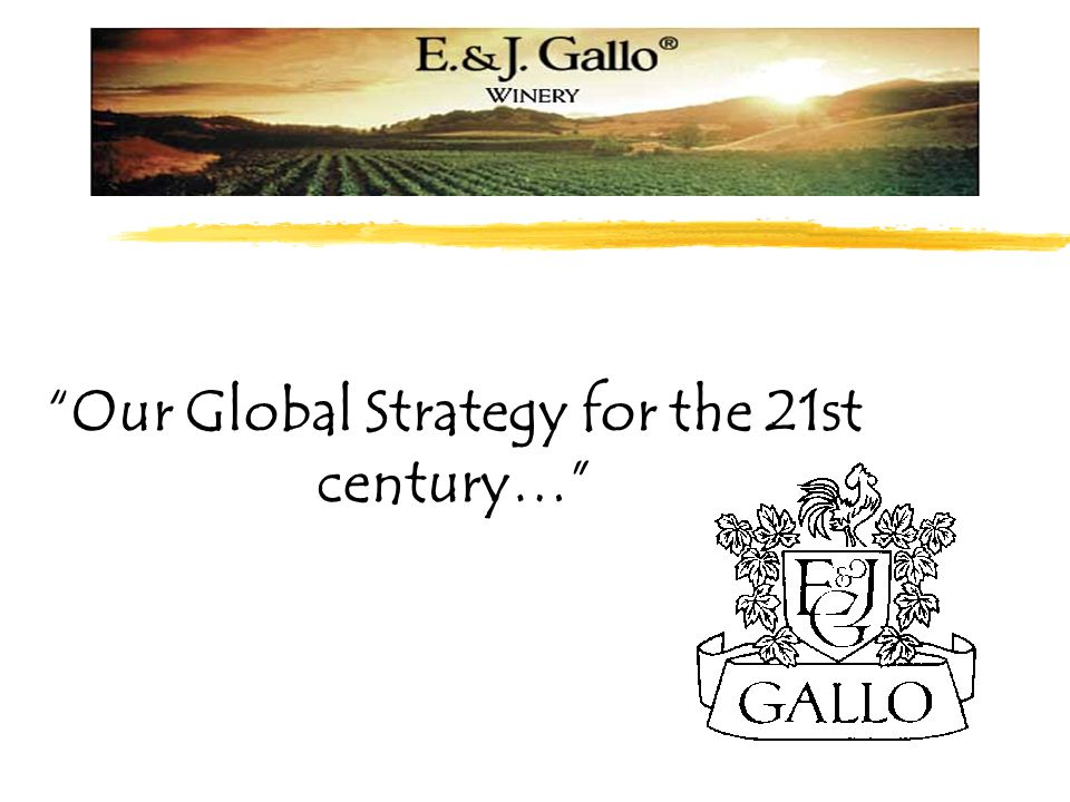"""Our Global Strategy for the 21st century…"""
