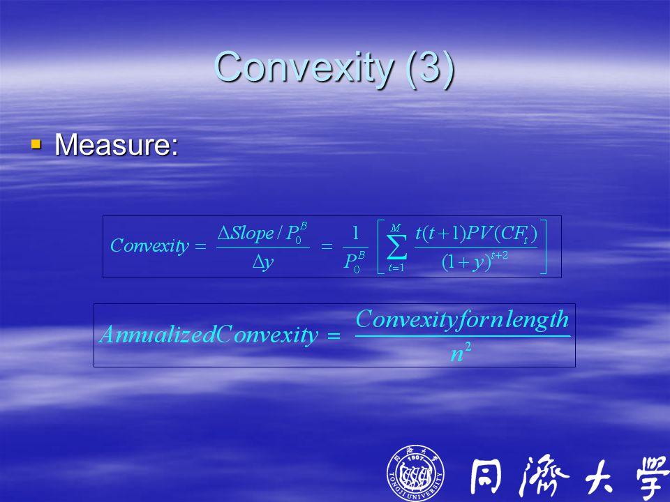 Convexity (3)  Measure: