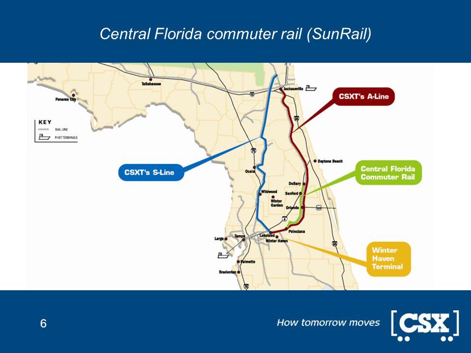 6 Central Florida commuter rail (SunRail)