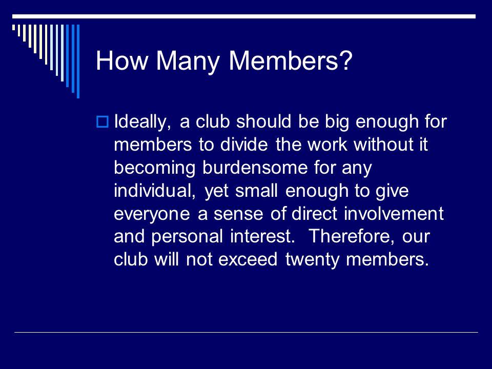 How Many Members.