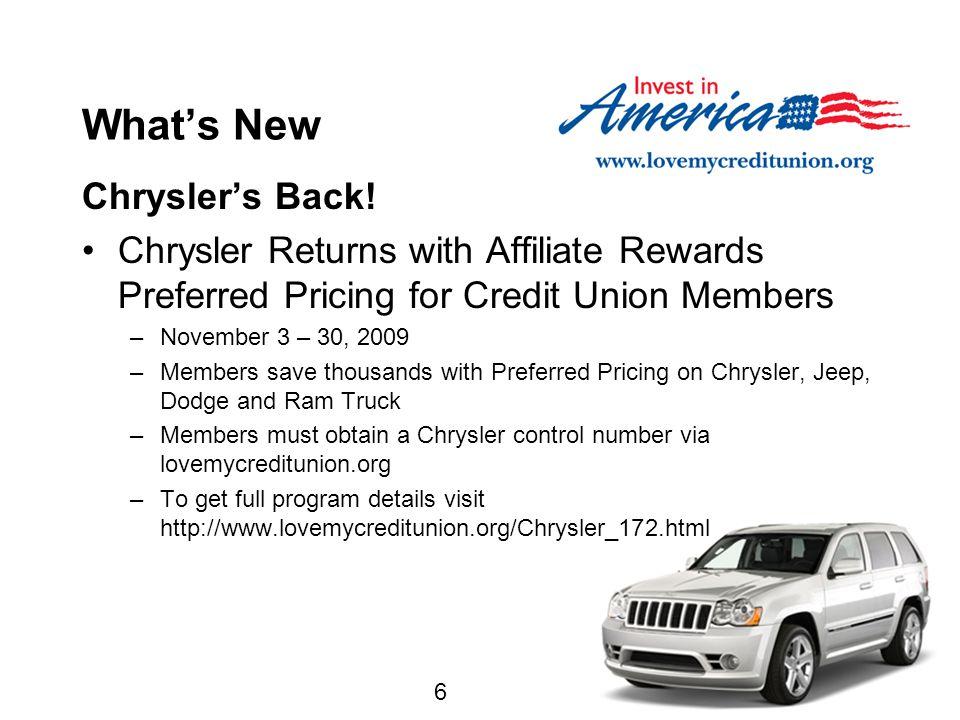 6 What's New Chrysler's Back.