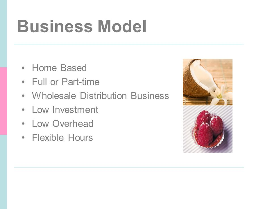 Business Model Home Based Full or Part-time Wholesale Distribution Business Low Investment Low Overhead Flexible Hours