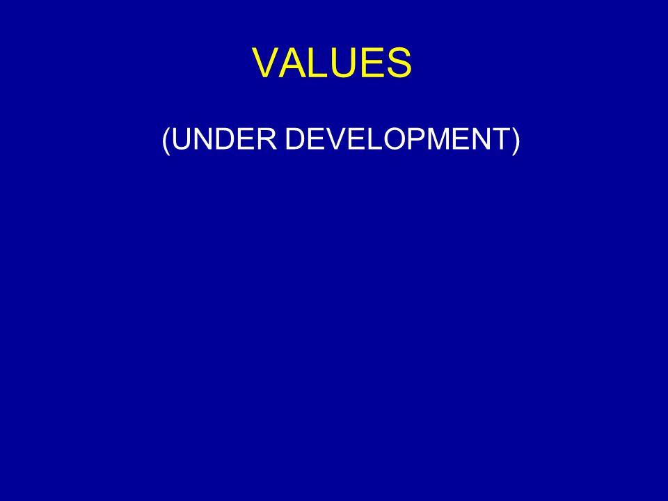 VALUES (UNDER DEVELOPMENT)