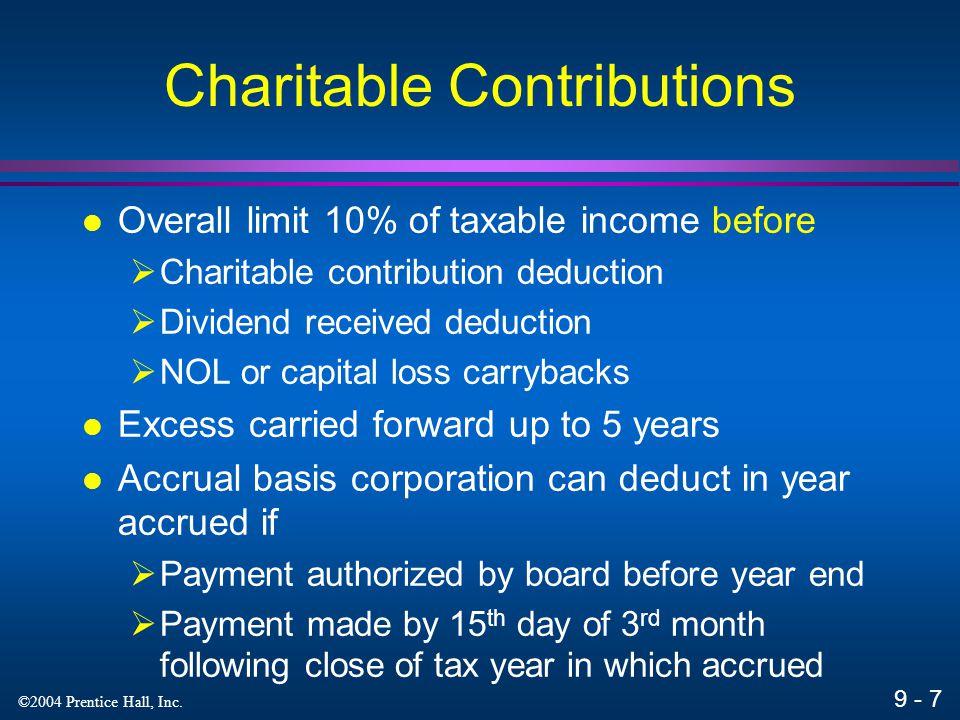 9 - 38 ©2004 Prentice Hall, Inc. Exempt Organizations Appendix 9A