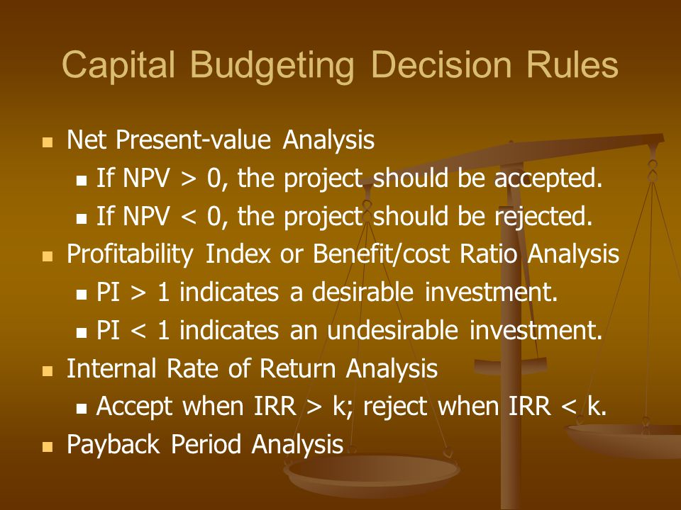 Project Selection Reasons for Decision Rule Conflict NPV analysis has large project bias.
