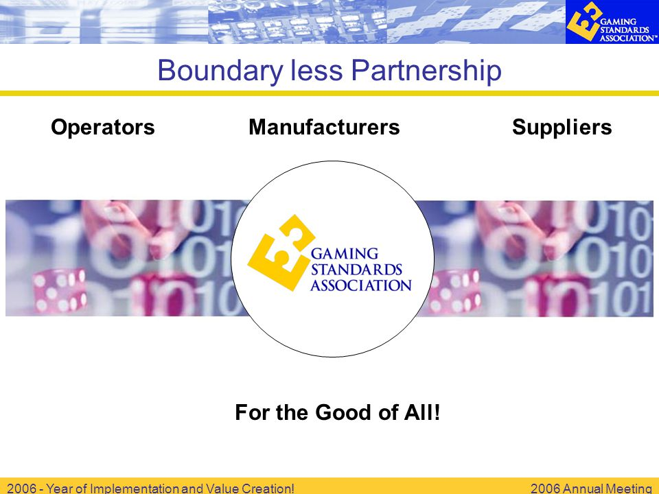 2006 - Year of Implementation and Value Creation!2006 Annual Meeting Boundary less Partnership OperatorsManufacturersSuppliers For the Good of All!