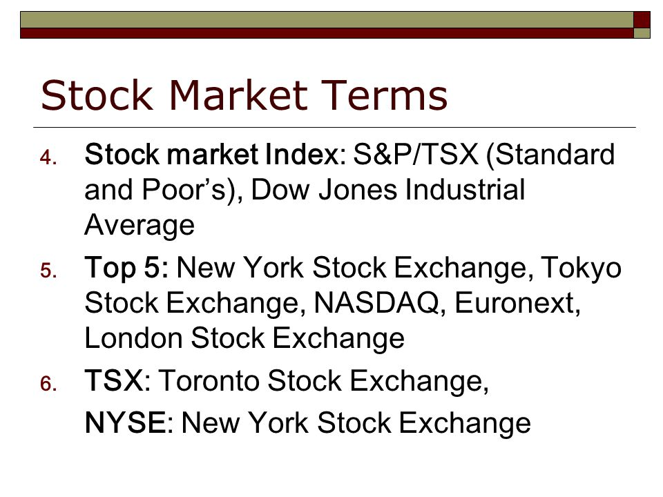 Stock Market Terms 4.