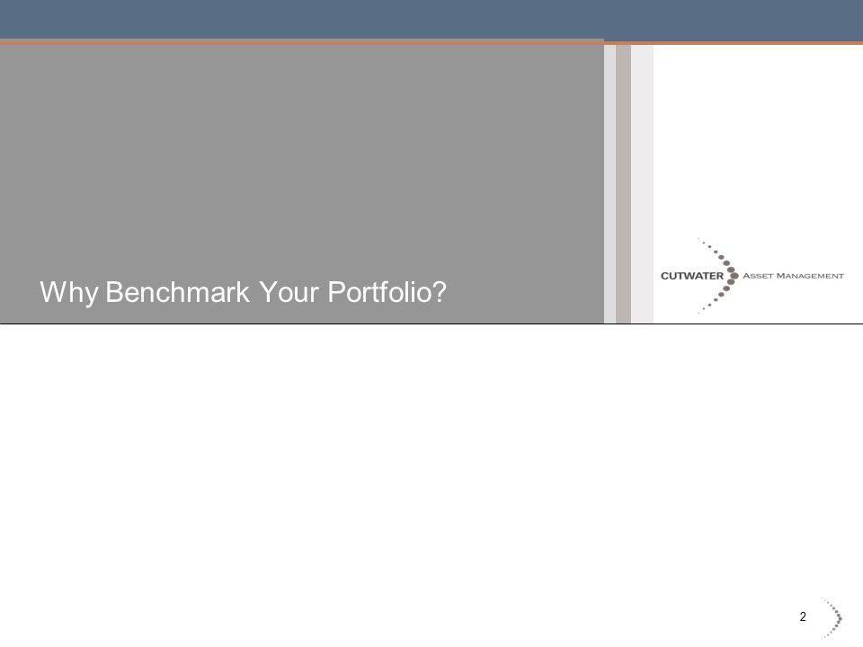 2 Why Benchmark Your Portfolio?