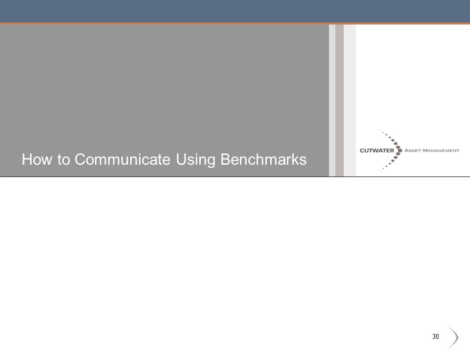 30 How to Communicate Using Benchmarks