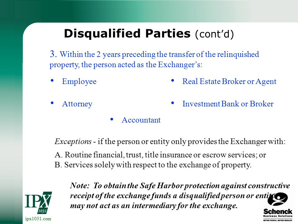 ipx1031.com A disqualified party is a person or entity who: Disqualified Parties 2.