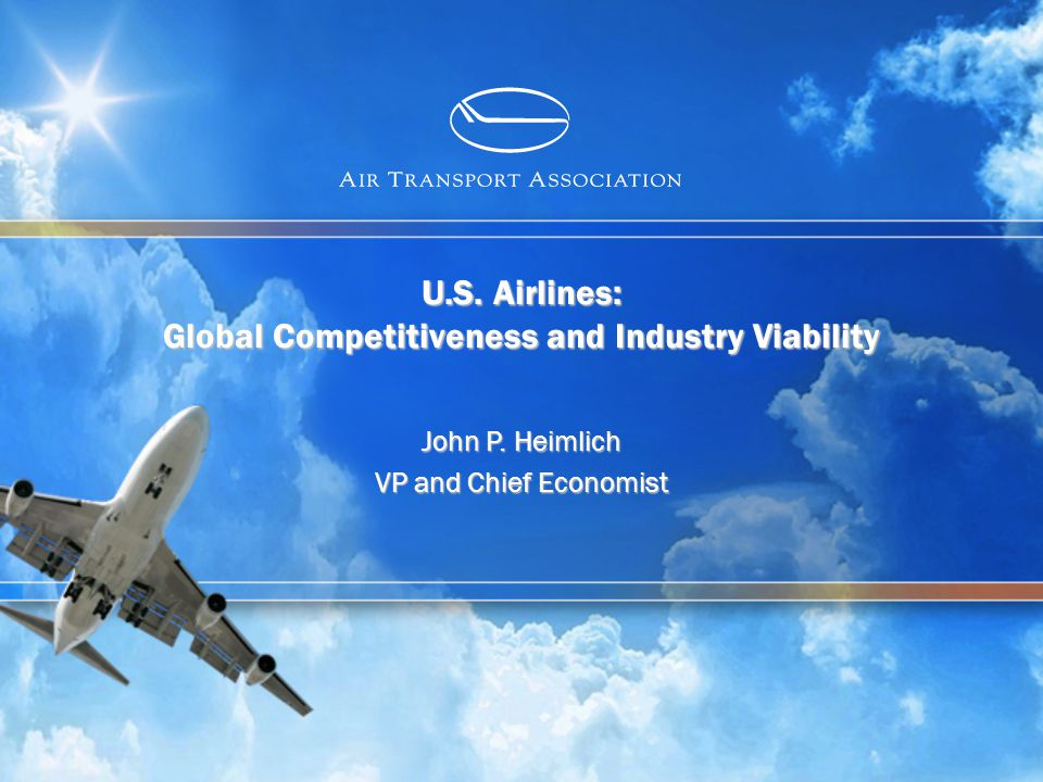 www.airlines.org OVERVIEW 2 DOT mission explicitly recognizes importance of airline viability/competitiveness A viable, competitive U.S.