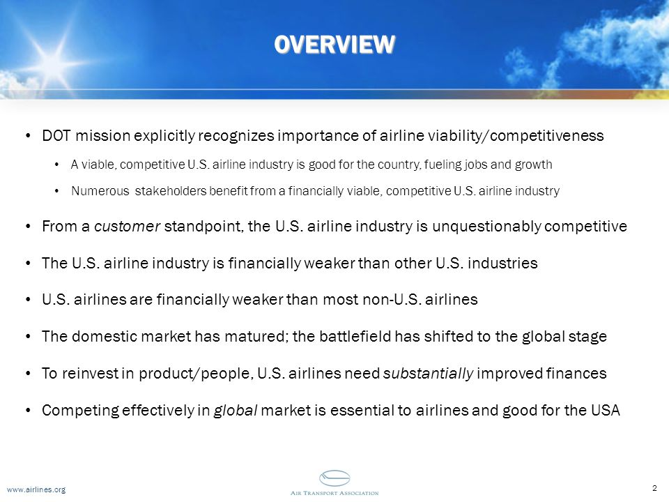 www.airlines.org The Future Lies Across the Pond(s) Thinking Outside the [Domestic] Box Airbus Global Market Forecast Annual Traffic Growth: 2009-2028 Boeing Current Market Outlook Annual Traffic Growth: 2009-2028 13