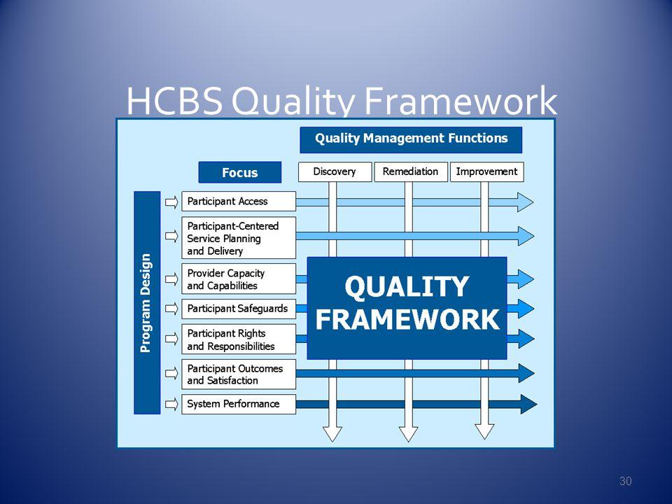 HCBS Quality Framework 30