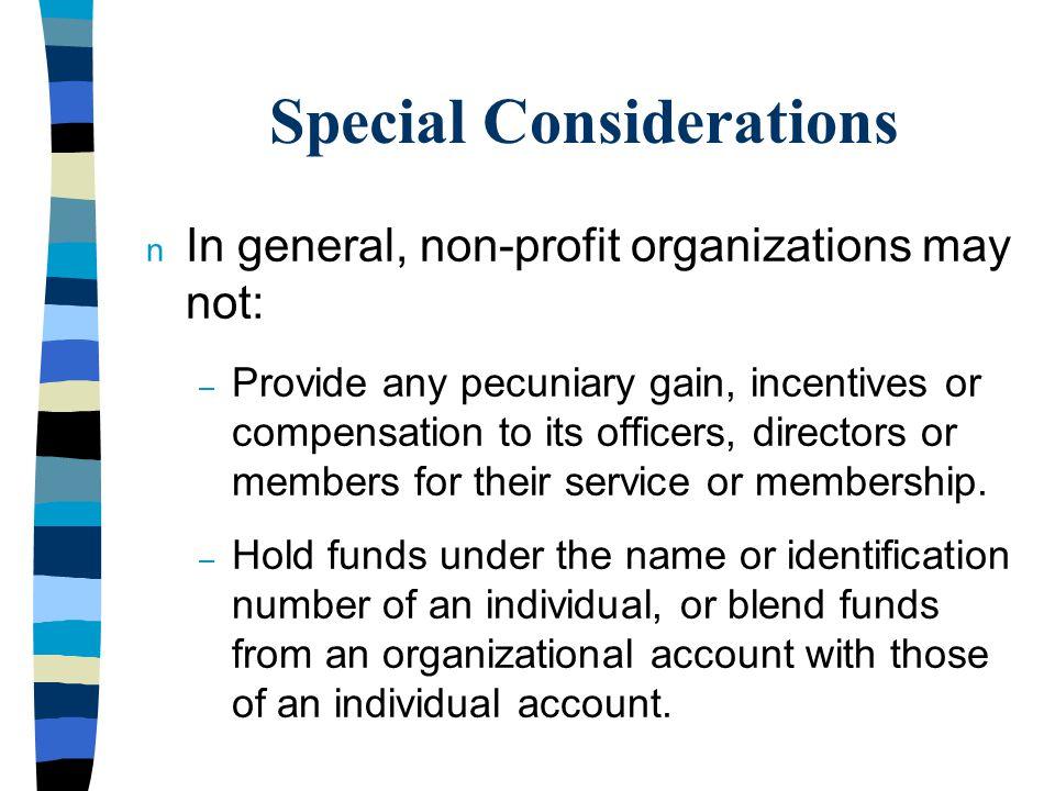 Non-Profit Directors' Duties n Care n Loyalty n Obedience n Integrity