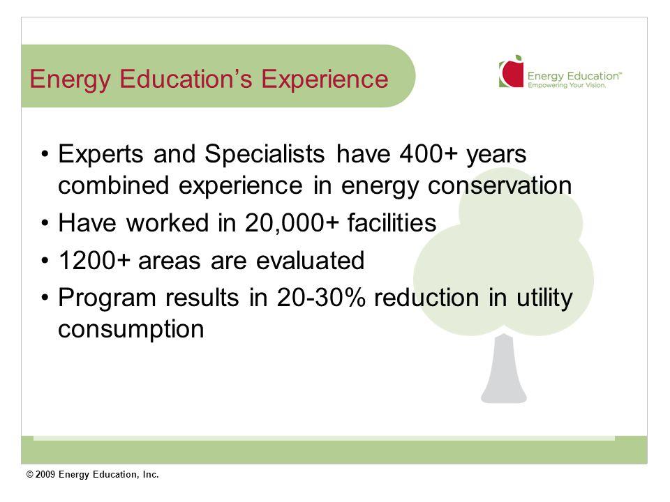 © 2009 Energy Education, Inc.